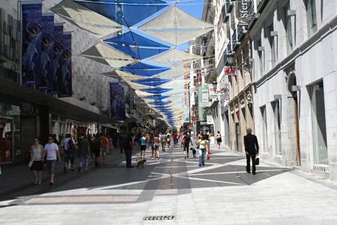 calle preciados centro madrid