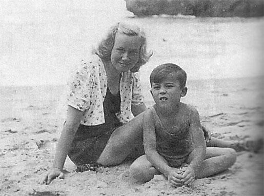 Elena Dragó y su hijo, Fernando