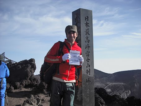 Fernando González Viñas cima Monte Fuji Japón