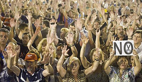 neptuno cierra espana manifestacion