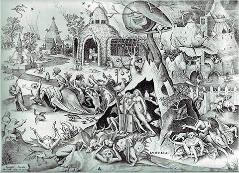 pieter bruegel el viejo los siete pecados capitales lujuria