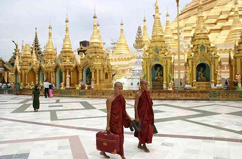 rangun monjes birmania