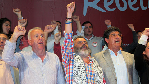 Sánchez Gordillo puño alto