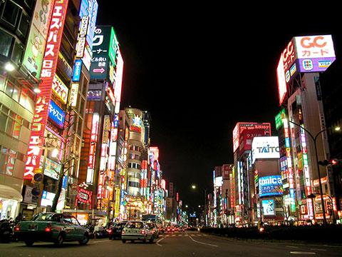 tokio shinjuku tokyo night noche
