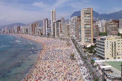 turismo playa espana