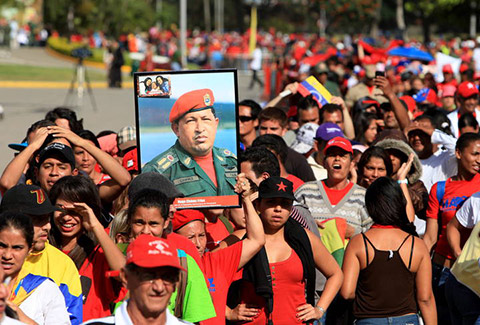 velatorio hugo chávez multitud venezuela