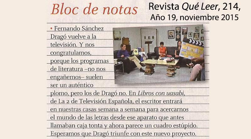 La revista Qué Leer recomienda 'Libros con uasabi'