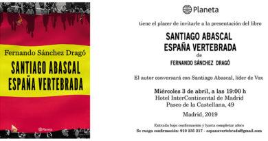 Presentación de 'España vertebrada', de Fernando Sánchez Dragó y Santiago Abascal