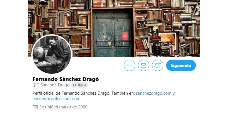 Twitter de Fernando Sánchez Drago